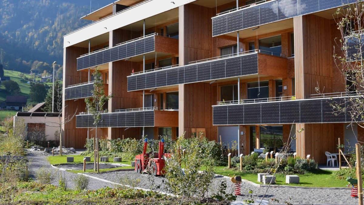 Umgebungsgestaltung Solarhäuser Reichenburg 2