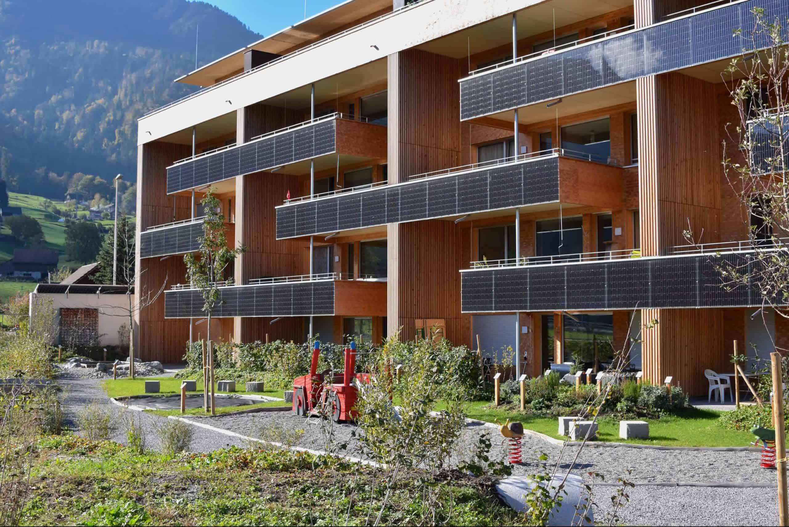 Umgebungsgestaltung Solarhäuser Reichenburg 3
