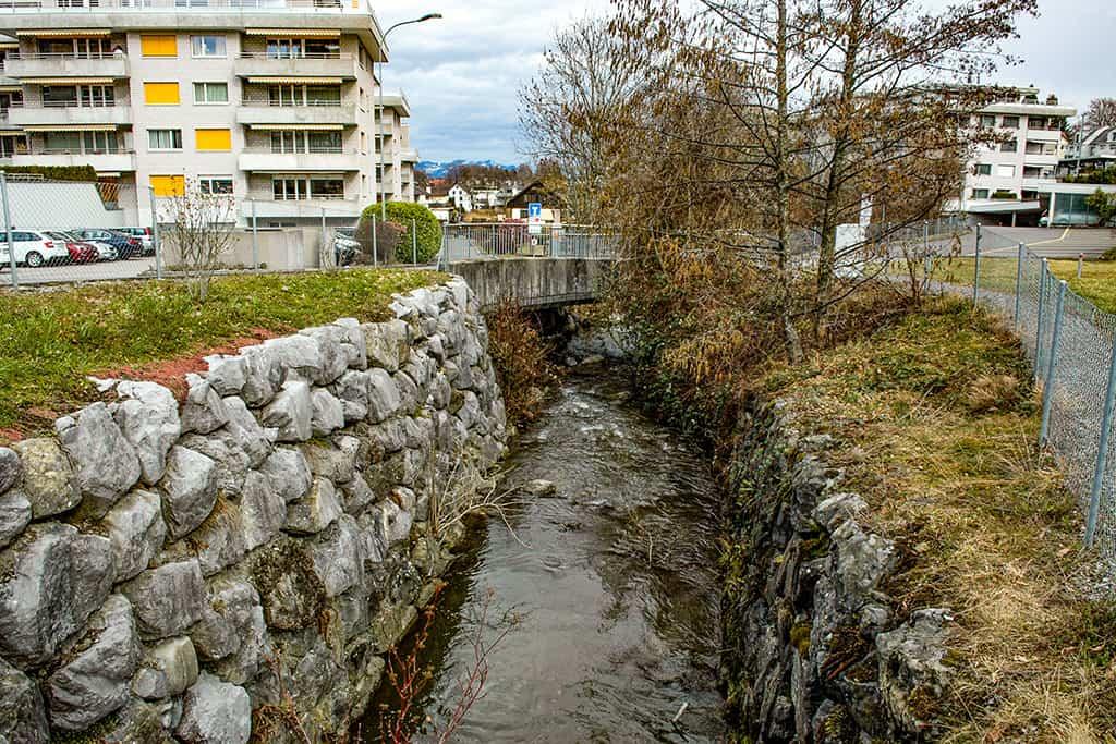 Hochwasserschutzprojekt Krebsbach Wollerau 1